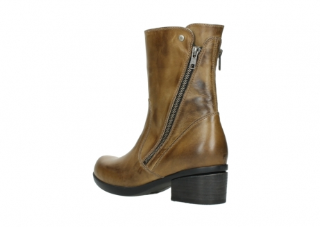 wolky mid calf boots 01376 rialto 30920 ocher yellow leather_4