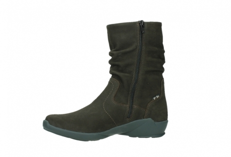 wolky mid calf boots 01573 luna wp 11302 brown nubuck water proof warm lining_12