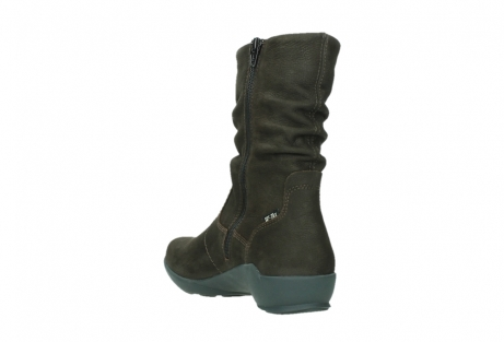 wolky mid calf boots 01573 luna wp 11302 brown nubuck water proof warm lining_17