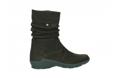 wolky mid calf boots 01573 luna wp 11302 brown nubuck water proof warm lining_24
