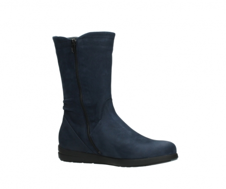 wolky mid calf boots 02425 newton wp 13800 blue nubuckleather_15