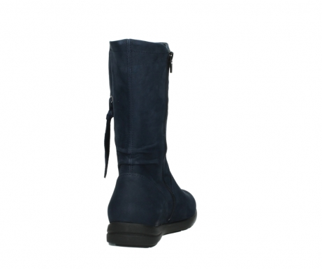 wolky mid calf boots 02425 newton wp 13800 blue nubuckleather_8
