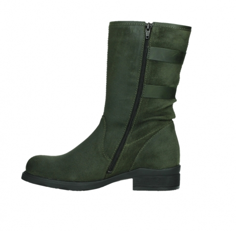 wolky mid calf boots 02626 willis 45730 forestgreen suede_13