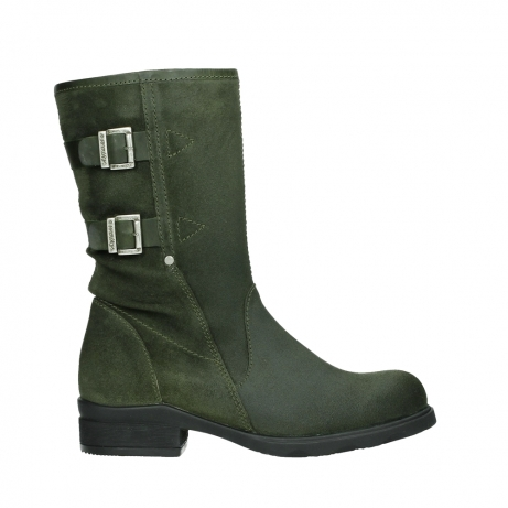 wolky mid calf boots 02626 willis 45730 forestgreen suede