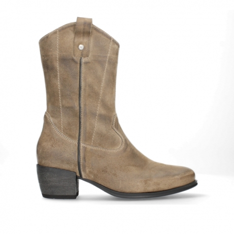 wolky mid calf boots 02876 caprock 45150 taupe suede