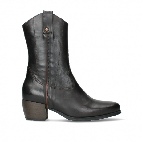 wolky mid calf boots 02876 caprock 30305 brown leather