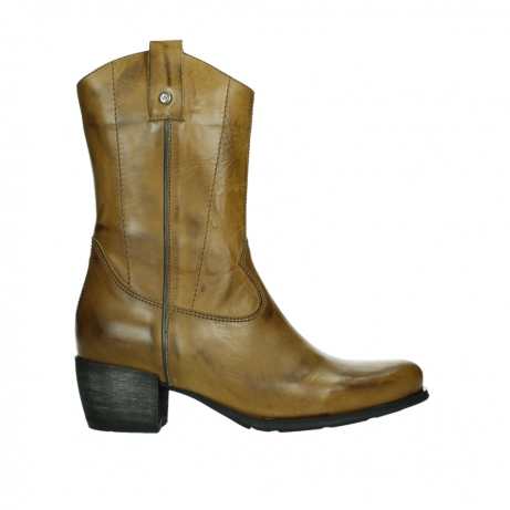 wolky mid calf boots 02876 caprock 30925 dark ocher leather