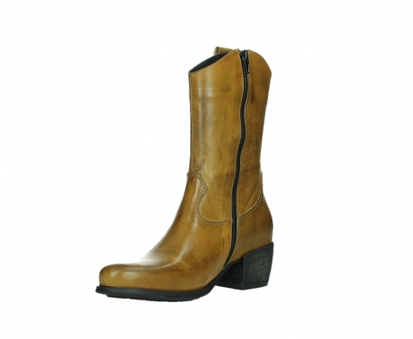 wolky mid calf boots 02876 caprock 30925 dark ocher leather_10