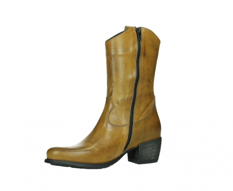 wolky mid calf boots 02876 caprock 30925 dark ocher leather_11