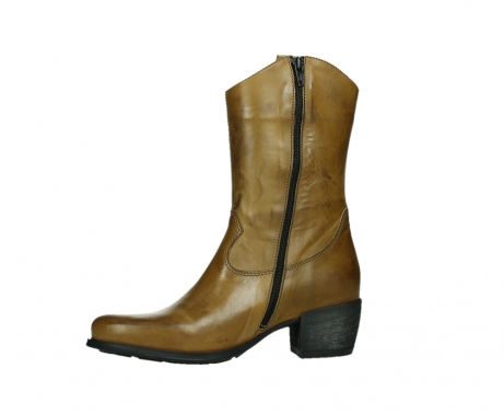 wolky mid calf boots 02876 caprock 30925 dark ocher leather_12