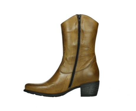 wolky mid calf boots 02876 caprock 30925 dark ocher leather_13