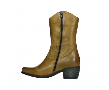wolky mid calf boots 02876 caprock 30925 dark ocher leather_14