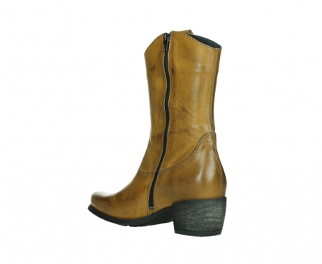 wolky mid calf boots 02876 caprock 30925 dark ocher leather_16