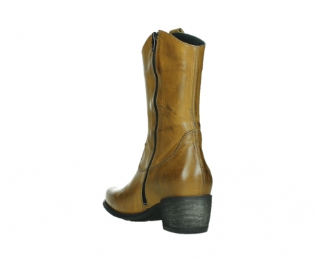 wolky mid calf boots 02876 caprock 30925 dark ocher leather_17