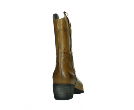wolky mid calf boots 02876 caprock 30925 dark ocher leather_20