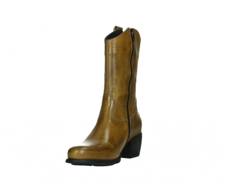 wolky mid calf boots 02876 caprock 30925 dark ocher leather_9