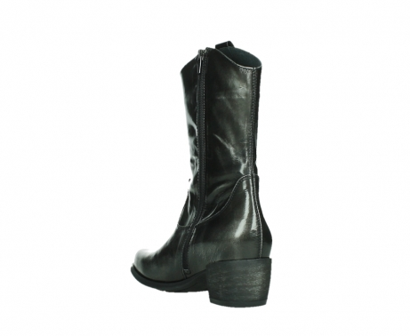 wolky mid calf boots 02876 caprock 63210 anthracite shiny leather_17
