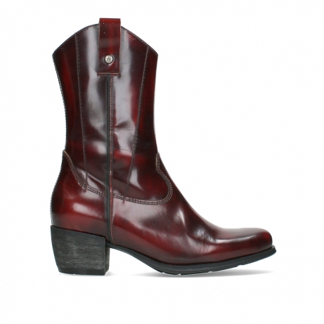 wolky mid calf boots 02876 caprock 63510 burgundy shiny leather