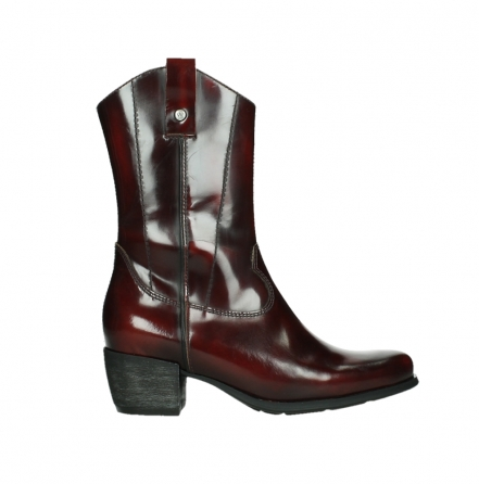 wolky mid calf boots 02876 caprock 63510 burgundy shiny leather_1
