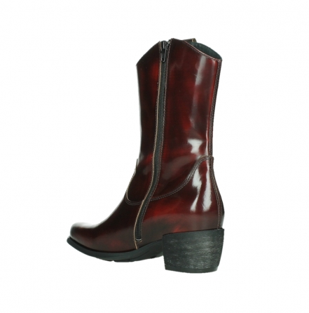 wolky mid calf boots 02876 caprock 63510 burgundy shiny leather_16