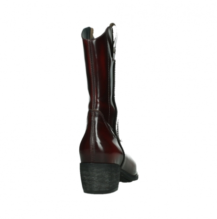 wolky mid calf boots 02876 caprock 63510 burgundy shiny leather_20