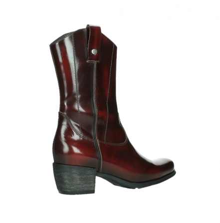 wolky mid calf boots 02876 caprock 63510 burgundy shiny leather_23