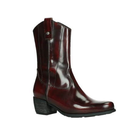 wolky mid calf boots 02876 caprock 63510 burgundy shiny leather_3