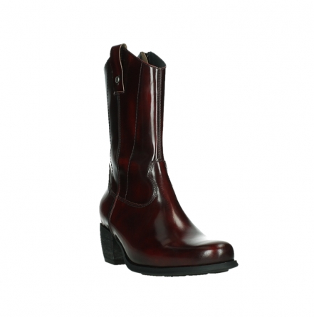 wolky mid calf boots 02876 caprock 63510 burgundy shiny leather_5