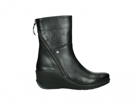 wolky mid calf boots 03876 newtok 30000 black leather_1
