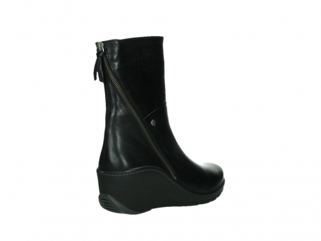 wolky mid calf boots 03876 newtok 30000 black leather_22
