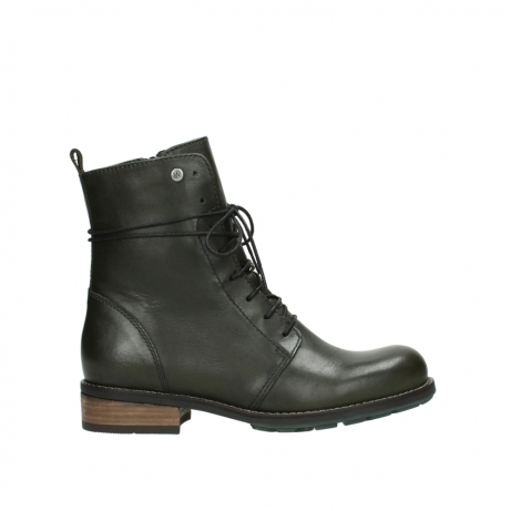 wolky mid calf boots 04438 murray cw 20730 forest green leather cold winter warm lining