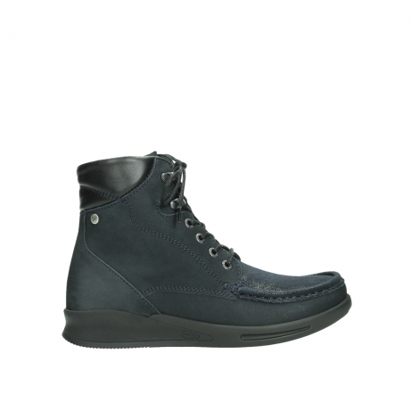 wolky lace up boots 05904 four 10875 blue winter stretch nubuck