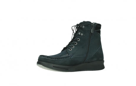 wolky mid calf boots 05904 four 10875 blue winter stretch nubuck_11