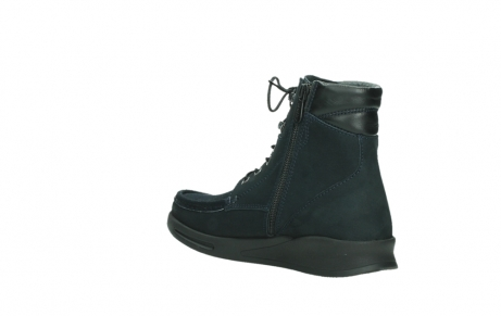 wolky lace up boots 05904 four 10875 blue winter stretch nubuck_16
