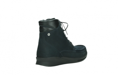wolky mid calf boots 05904 four 10875 blue winter stretch nubuck_22