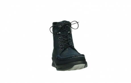 wolky mid calf boots 05904 four 10875 blue winter stretch nubuck_6
