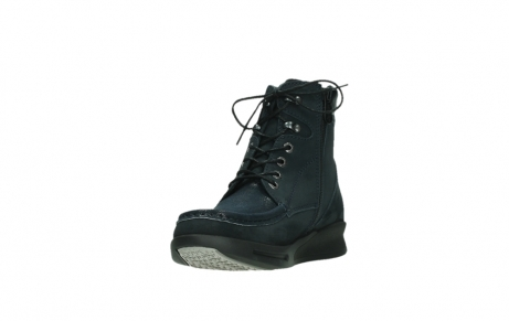 wolky lace up boots 05904 four 10875 blue winter stretch nubuck_9