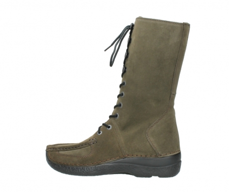wolky mid calf boots 06210 roll fashion 40155 taupe suede_2