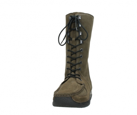 wolky mid calf boots 06210 roll fashion 40155 taupe suede_20