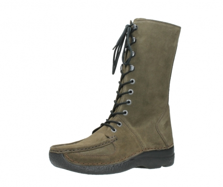 wolky mid calf boots 06210 roll fashion 40155 taupe suede_23