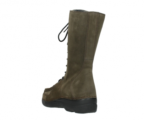 wolky mid calf boots 06210 roll fashion 40155 taupe suede_5