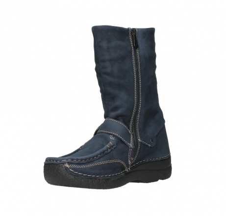 wolky mid calf boots 06267 roll jacky 11800 blue nubuck_10