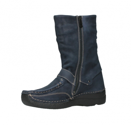 wolky mid calf boots 06267 roll jacky 11800 blue nubuck_11