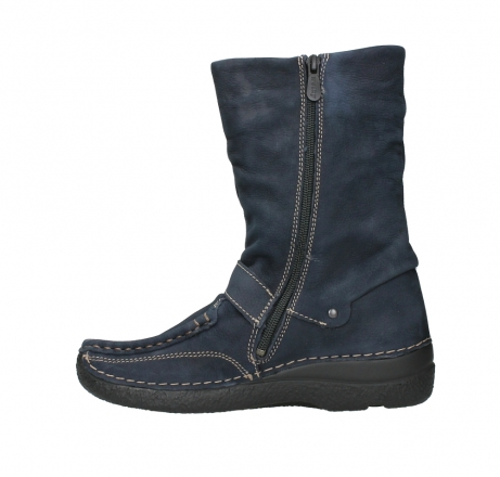 wolky mid calf boots 06267 roll jacky 11800 blue nubuck_13