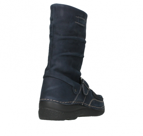 wolky mid calf boots 06267 roll jacky 11800 blue nubuck_21