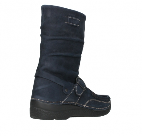 wolky mid calf boots 06267 roll jacky 11800 blue nubuck_22