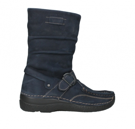 wolky mid calf boots 06267 roll jacky 11800 blue nubuck_24