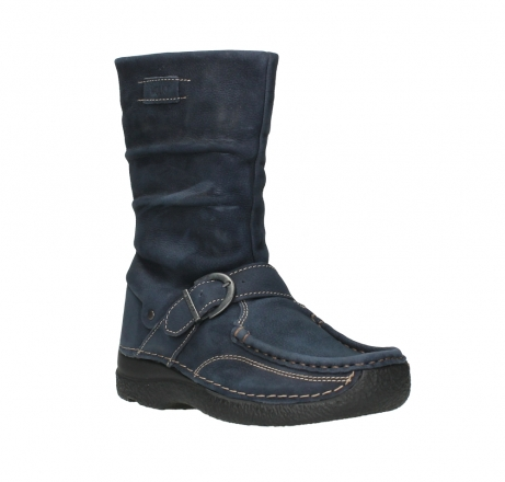 wolky mid calf boots 06267 roll jacky 11800 blue nubuck_4