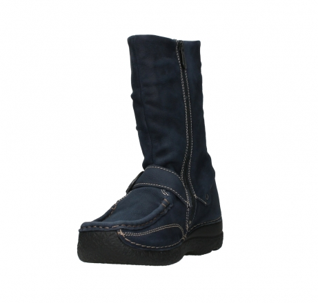 wolky mid calf boots 06267 roll jacky 11800 blue nubuck_9