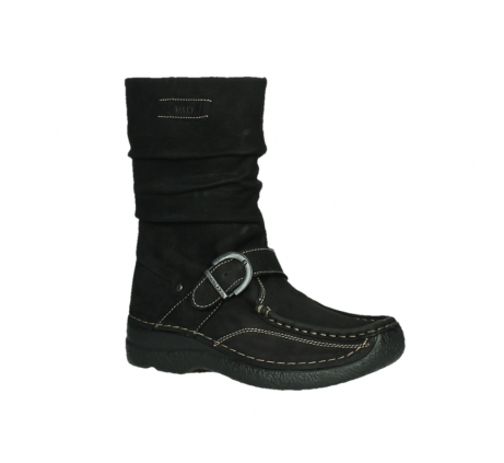 wolky mid calf boots 06267 roll jacky 50000 black oiled leather_3